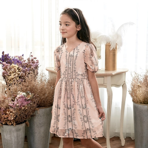 Floral Fit & Flare Dress (toddler/girl)