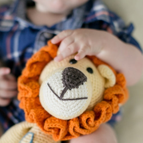 Leo the Lion Hand Knitted Stuffed Animal