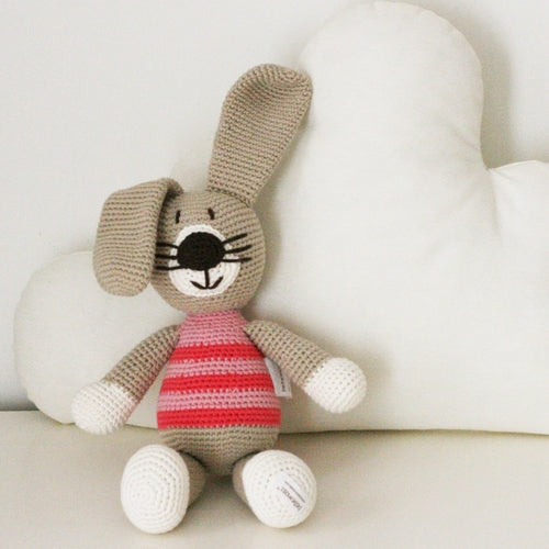 Peter the Rabbit Hand Knitted Stuffed Animal