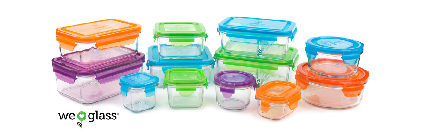 Eco Friendly Tempered Glass Containers Wean Green
