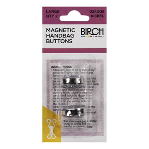 Birch Large Magnetic Handbag Buttons - 2 Pack - Multiple Colour Options Available
