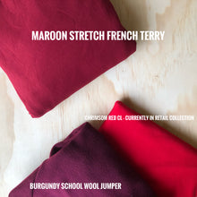Maroon Stretch French Terry 250gsm