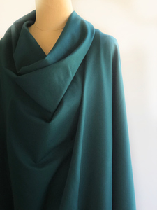 Dark Teal Stretch French Terry