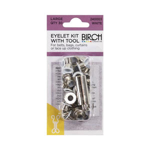 Birch Eyelet Kit & Tool- Multiple Colour Options Available