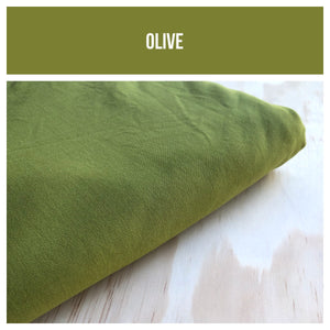Olive Stretch French Terry 250gsm