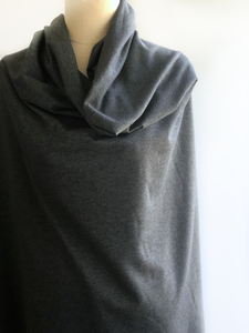 Heathered Dark Grey Stretch French Terry