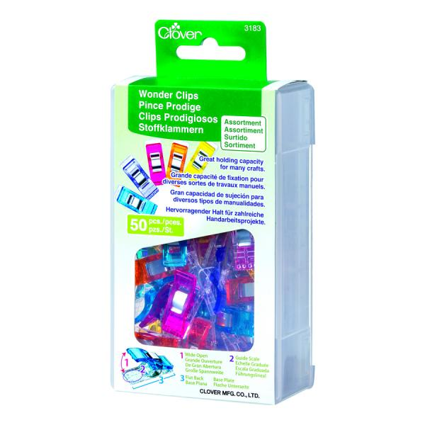 Clover Wonder Clips - Assorted 50 Pieces