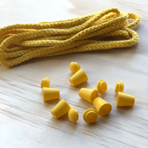 Cord & 6 Bell Stops Pack - Yellow