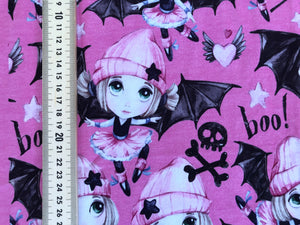 Pink Bat Girl Project Panel *50% off Halloween Prints!