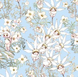 May Gibbs ~ Flannel Flower Babies ~ Summer Blue