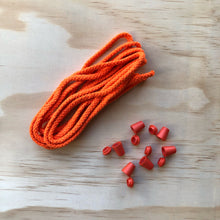Cord & 6 Bell Stops Pack - Bright Orange