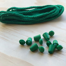 Cord & 6 Bell Stops Pack - Green
