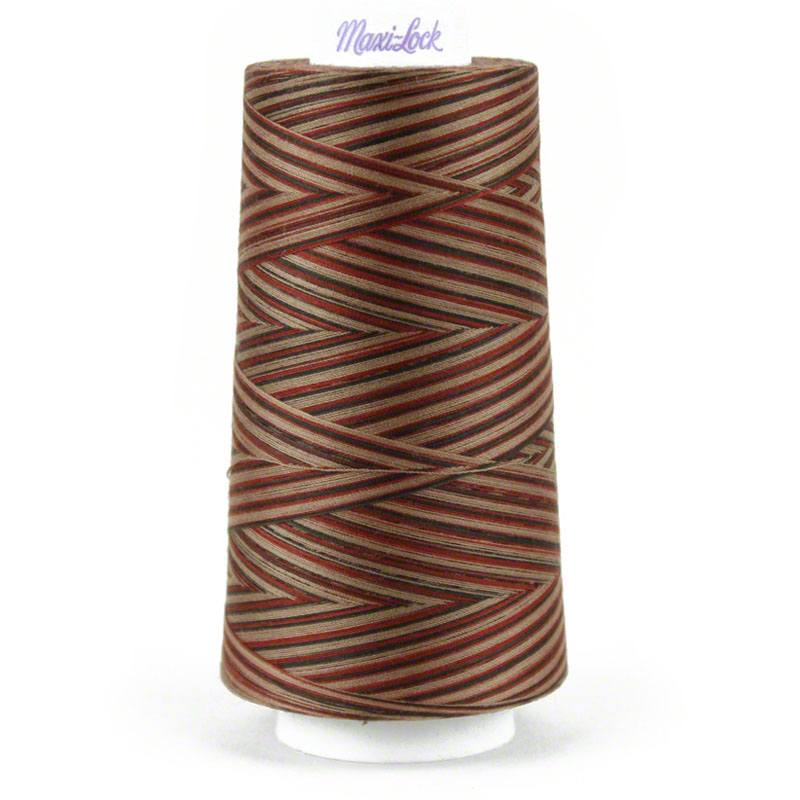 Maxi-Lock Swirls Thread Mocha Almond Fudge