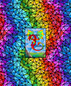 Stained Glass Dragon Panel - Rainbow