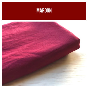 Maroon *FLASH PRE-ORDER* Stretch French Terry 250gsm