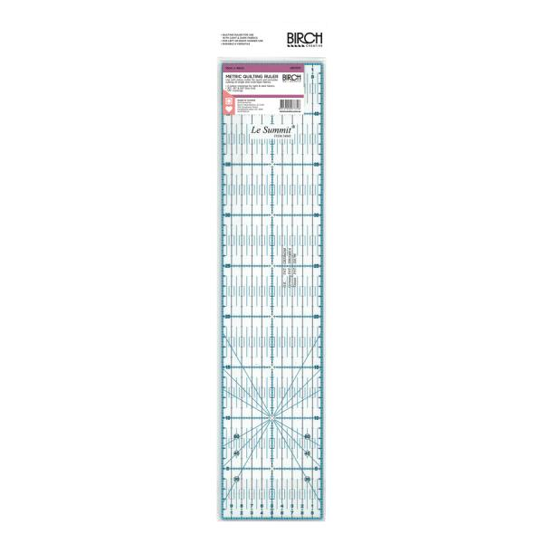Birch - Metric Quilt Ruler - 10x45cm