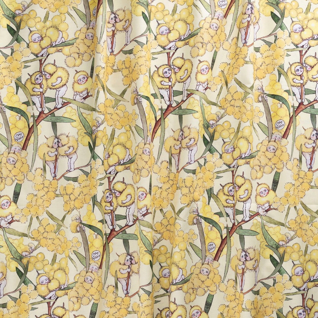 May Gibbs ~ Blossom Babies - Yellow • Mid-Weight Cotton