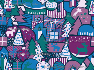 Christmas Collage - Purple