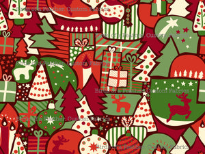 Christmas Collage - Red