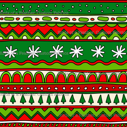 Christmas Pattern Stripes