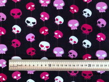 Pink Bow Skull Project Panel *50% off Halloween Prints!