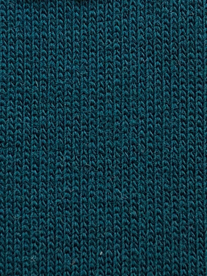 Dark Teal Stretch French Terry - Discounted Preorder