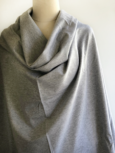 Heathered Light Grey Stretch French Terry
