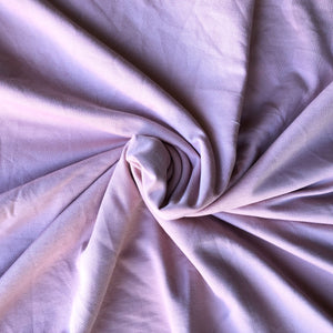 Dusty Pink Stretch French Terry 250gsm