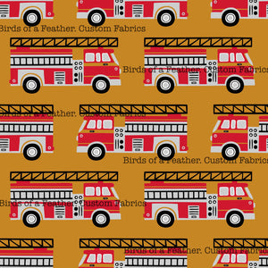 Fire Trucks - Mustard Gold