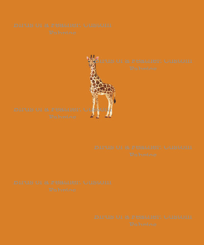 Giraffe - Orange Panel