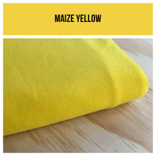 Maize Yellow Stretch French Terry 250gsm