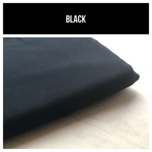 Black Stretch French Terry 250gsm