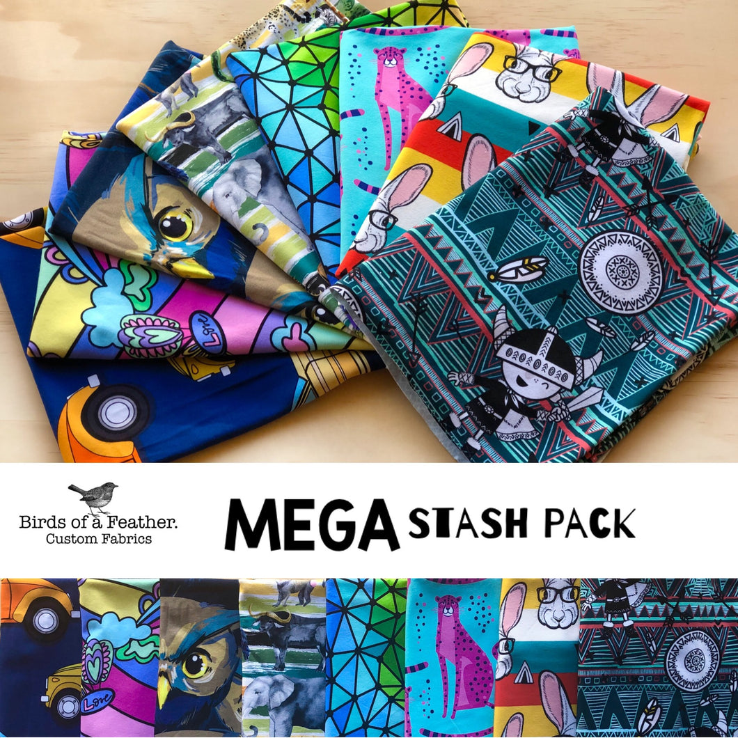 MEGA Stash Pack - #1 - Cotton Lycra 220 *PACKS RE-STOCKING Early Sept*