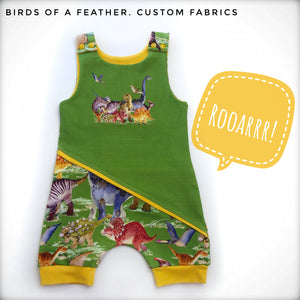 Dino Friends - Bright Green Panel (baby/toddler/small child image size)