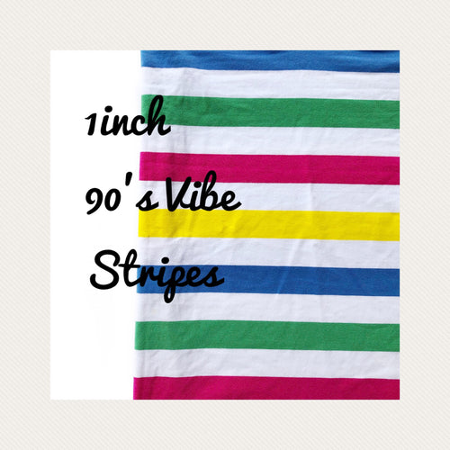 1 inch 90's Vibe Yarn Dyed Stripes - Made exclusively for BOAF.