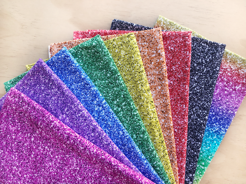 Rainbow Printed Glitter Stash Pack