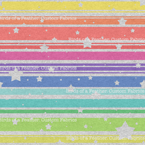 Heather Rainbow Stripes & Stars