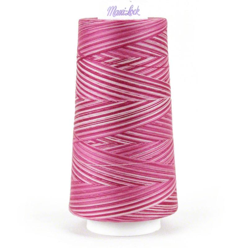 Maxi-Lock Swirls Thread Raspberry Vanilla