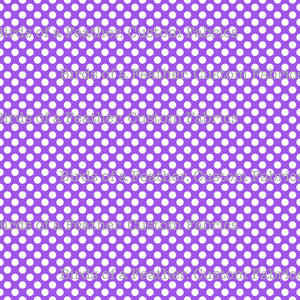 Be Cool, Be Polka Dot - Purple