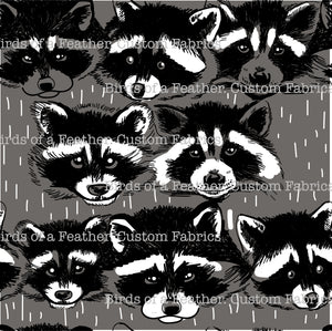 Raccoon Ya Later - Grey Background