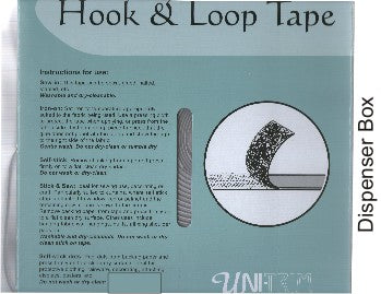 Uni-Trim 20mm Hook & Loop / Black Sew-in