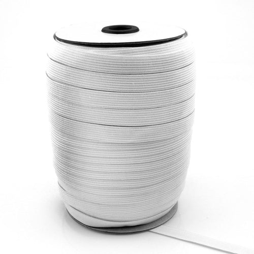 UNI-TRIM Double Knitted 12mm White Elastic