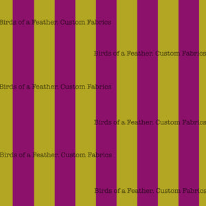 "Printed 1"" Pink & Yellow Vertical Stripes"