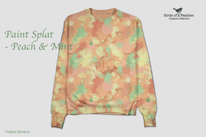 Paint Splat - Peach & Mint