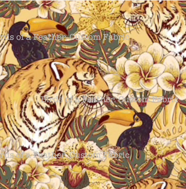 Tigers In Jungle Yellow