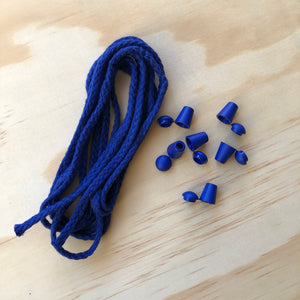 Cord & 6 Bell Stops Pack - Blue