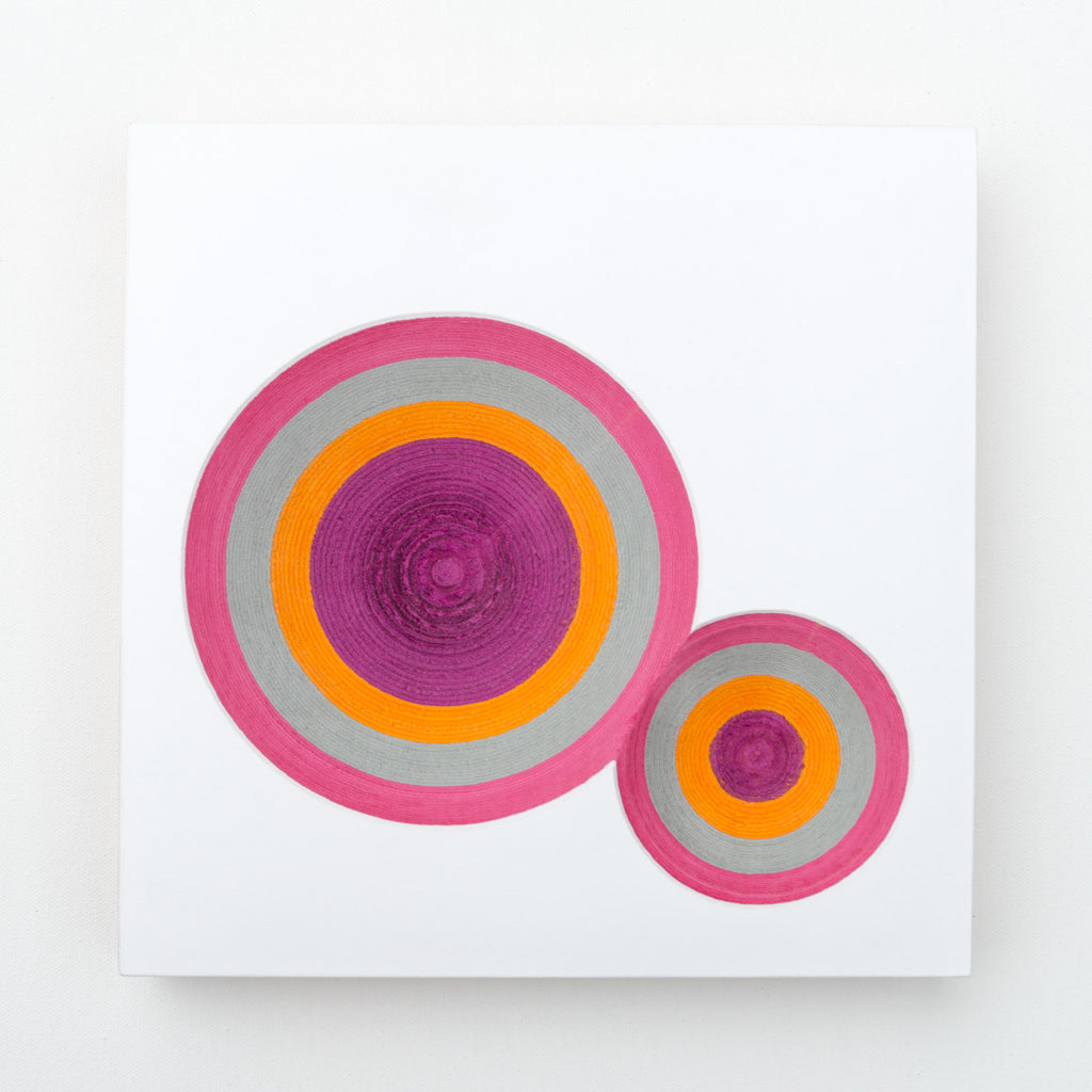 What Lies Beneath - Pink, Grey, Orange, Purple No 1 - Lustre.art