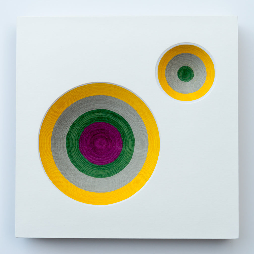 What Lies Beneath - Yellow, Grey, Green, Purple No 1 - Lustre.art