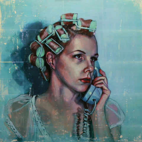 Woman In Curlers - Lustre.art