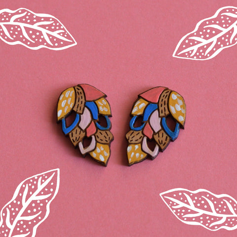 Pinecone Stud Earrings